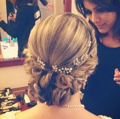 Hairstyles For The Wedding - Twisted Braids and Twisted Bun with Flowers…