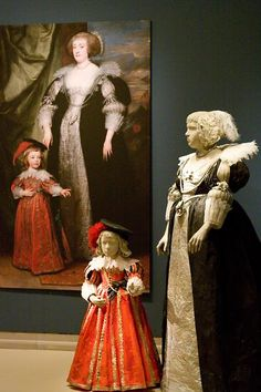 Paper dresses created by Isabelle de Borchgrave - some designs extracted from historical paintings - this one by Van Dyck.