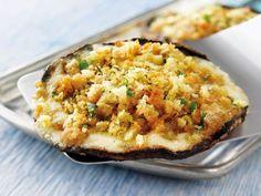 Gegrillte Portobello Champignons mit Asiago