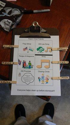 Kaper Chart Ideas - Girl Scout Service Unit 440