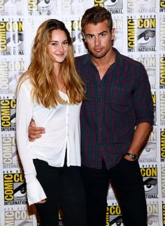 Divergent Movie Photo Shoot Stills from San Diego Comic Con #SDCC ~ Shailene Woodley (to play Tris Prior) and Theo James (to play Four)