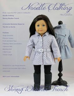 Karen Mom of Three's Craft Blog: Noodle Clothing's Stormy Weather Trench Pattern…