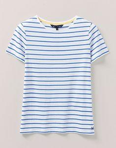 Joules Harbour Imprimer T-shirt femme à manches longues-motifs fleuri bleu marine à rayures toutes tailles