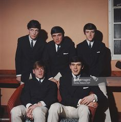 English pop rock group The Dave Clark Five, circa 1965. Standing, left to right…