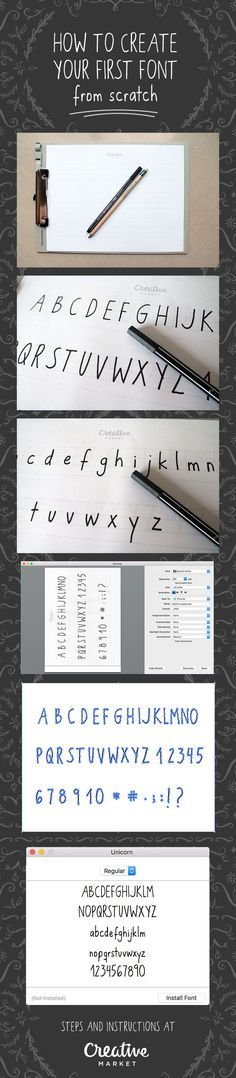 How to Create Your First Font from Scratch: A Step by Step Guide; fonts, typography, how to create a font