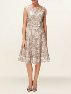 Phase Eight Antoinette fit and flare dress Oyster - House of Fraser