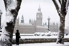 Big Ben in the snow.