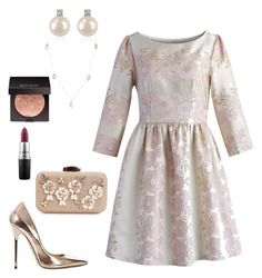 """""""Untitled #129"""" by aya-hussien-nasrallah on Polyvore featuring Chicwish, Jimmy Choo, Forzieri, Lana, Laura Mercier and MAC Cosmetics"""