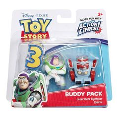 ( 8.00) Disney Toy Story 3 Action Links 2-Figure Buddy Pack - LASER BUZZ  LIGHTYEAR 9336be959d2