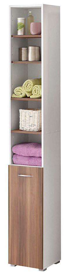 Badezimmer Hochschrank in Weiß-Wenge Günstig kaufen Jetzt - badezimmer hochschrank günstig