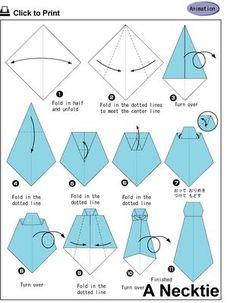 cravate origami