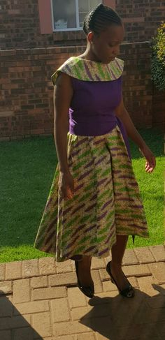 Ankara special occasion dress - pinned by pin4etsy.com