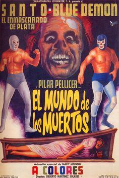 Lucha Libre - Cartel de Cine - Santo y Blue Demon en el Mundo de los Muertos
