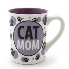 Cat Mug - Our Name is Mud Cat Mom Mug 4.5-inch. #catmugs #catrelatedgifts