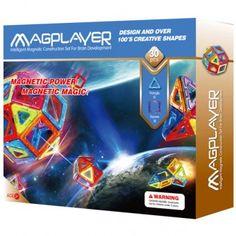 Joc de constructie magnetic MAGPLAYER - 30 piese 30th, Magnets, Shapes, Creative, Design, Figurine