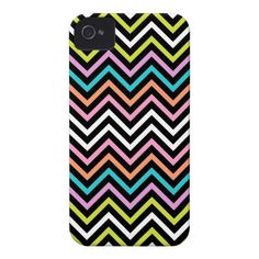 Colorful Modern Chevron iPhone 4 Case-Mate Cases by Organic Saturation. #iphonecase #chevron #zigzag #colorful #iphone #iphone4 #iphonecover