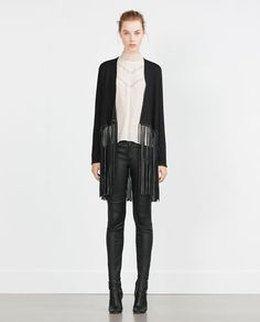 d6fefbf0 Image 1 of JACKET WITH FRINGE from Zara Fringe Cardigan, Zara New, Zara  Women