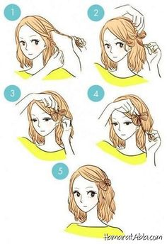 DIY tutorials on how to style your hair in 3 minutes. Quick and easy hairstyles. Techniques to style your hair and look elegant in no time. Kawaii Hairstyles, Fast Hairstyles, Everyday Hairstyles, Easy Morning Hairstyles, Wedding Hairstyles, Blonde Hairstyles, Layered Hairstyles, Medium Hairstyles, African Hairstyles