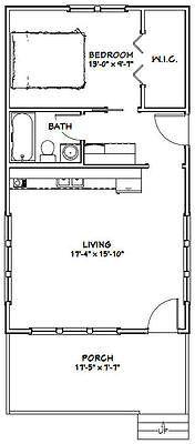 26 Best 400 Sq Ft Floorplan Images Tiny House Plans