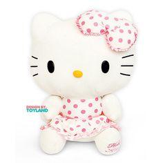 Sanrio Cat Character Hello Kitty White Dot 20cm 32cm 45cm Rag Plush Doll  #Sanrio
