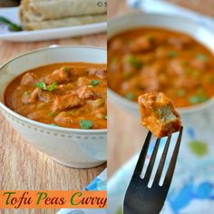 Tofu Mutter Masala / Tofu Peas Curry - Vegan & Healthy Side Dish. Needs more spice next time.  Will use coconut milk instead of water in sauce.