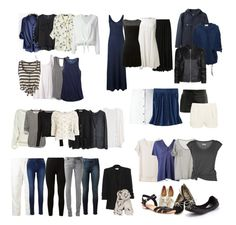 Black, white, blue, gray