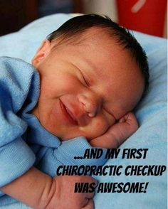 The birthing process can be traumatic for the infant and can cause serious subluxations in the spine. That's why babies love chiropractic! http://fullpotentialchiropractic.net/
