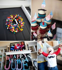 boy first birthday party idea