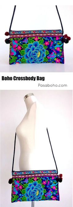 $21.90 - Black Boho Crossbody Bag from Pasaboho (Free Shipping Worldwide)