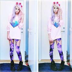 Pastel goth fashion | We Heart It