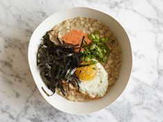 Asian Oatmeal Breakfast Bowl Recipe : Food Network Kitchen : Food Network - FoodNetwork.com