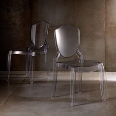 Homelegance Polycarbonate Side Chair - Clear Shield - Set of 2