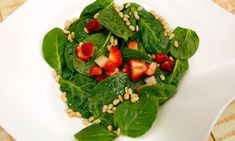 Receta de Ensalada de espinacas y fresas