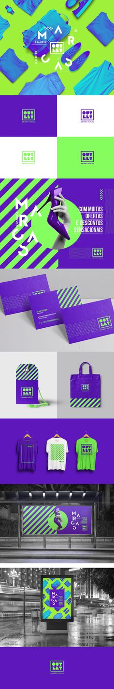 OUTLET GRANDES MARCAS - Nova identidade visual #flatdesign #graphicdesign #designinspiration #productdesign #henixweb