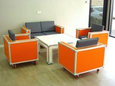 Flightcase sofa custom built