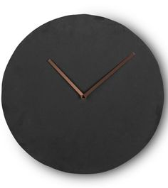 The Miner Wall Clock in Slate and Copper. Strong slate with a cool contrast of the sleek copper metal hands. £39 | MADE.COM