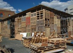 Theater Made From Recycled Pallets by Oudendijk and Korbes