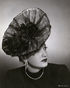 Stirred, Straight Up, with a Twist: Monday Millinery - a gorgeous 1940s lace hat on Dorothy Lamour!