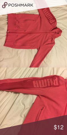 Pump zip up Pink puma zip up GREAT CONDITION Puma Tops Sweatshirts & Hoodies