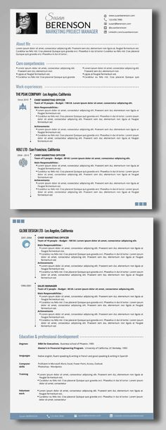 Resume Template - CV Template - Free Cover Letter - MS Word on Mac - how to find my resume online
