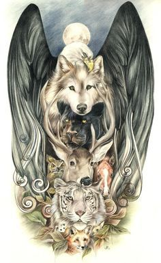 I love the eagle's wings.. I wouldn't get this, but I think it is beautiful art.