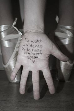One of my favorite quotes :) This was painted on the wall of my dance teachers room <3 This would also be cool written with chalk outside!