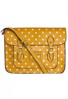 Yellow Polka Dot Satchel - Bags and Purses - Women ba90cdc6305a3