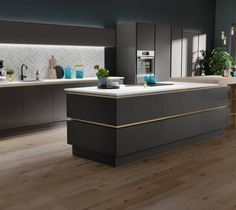 Browse our range of modern kitchens at Wren Kitchens. Our modern kitchens all come with a beautiful contemporary design - enjoy up to OFF our multi-buy offers! Kitchen Room Design, Kitchen Cabinet Design, Modern Kitchen Design, Kitchen Interior, Kitchen Ideas, Kitchen Pictures, Layout Design, Küchen Design, Wren Kitchen