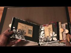 Vintage Black & White paperbag Mini-Album (Acid-Free) - YouTube