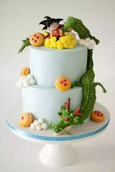 Goku Birthday, Ball Birthday, First Birthday Cakes, Tarta Dragon Ball, Baby Shower Cakes, Baby Boy Shower, Fondant Cakes, Cupcake Cakes, Cupcakes