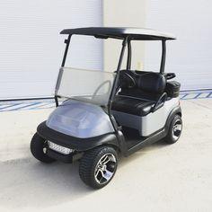 """Silver Club Car Precedent w/ 12"""" Alloy Wheels on Low Profile Tires"""