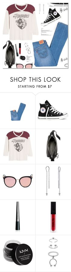 """Untitled #1896"" by christinacastro830 ❤ liked on Polyvore featuring Levi's, Converse, Junk Food Clothing, rag & bone, Stephane + Christian, Bling Jewelry, The Body Shop, NYX and Maria Francesca Pepe"