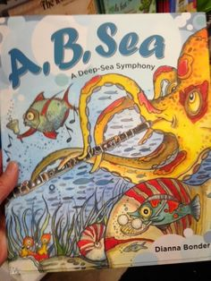 """""""A, B, Sea: A Deep Sea Symphony"""" written and illustrated by Dianna Bonder. Music Activities For Kids, Preschool Music, Music For Kids, Kids Songs, Kindergarten Music, Music Education Lessons, Elementary Music Lessons, Elementary Schools, Music Classroom"""