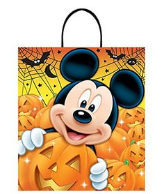 Mickey Mouse Inspired Happy Halloween Trick or Treak Loot Bag >>> Details can be found by clicking on the image.